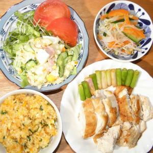鶏胸肉と焼き飯