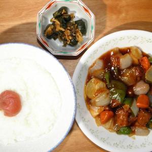 酢豚とお粥です