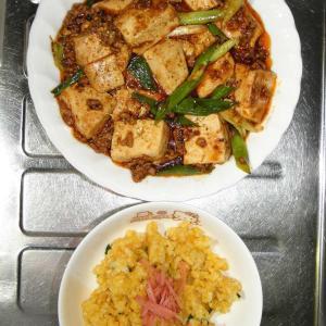 麻婆豆腐と炒飯