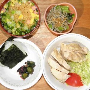 鶏胸肉・チキンラーメンお椀用・小松菜