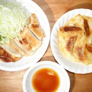 味の素の冷凍餃子と鶏胸肉