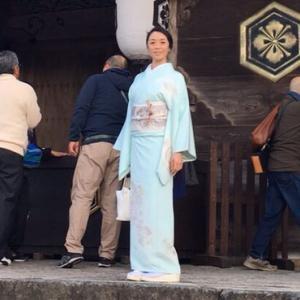 霜月〜出雲大社早朝参拝の装い。