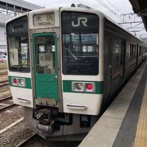 奥羽本線 福島駅から米沢駅まで 普通列車441M 乗車記 車窓から見える景色 板谷峠や峠駅