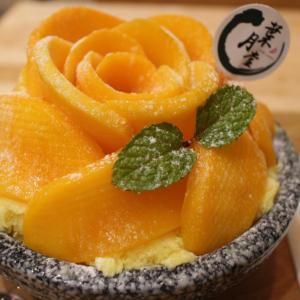 葉月堂 雪花氷専売店 高雄富民店 花びらのように盛り付けされたマンゴーかき氷