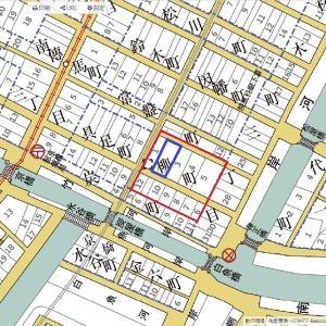 京橋柳町の長屋復元と、明治古地図