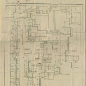 天保十三寅年二月 南町奉行所住居向絵図面