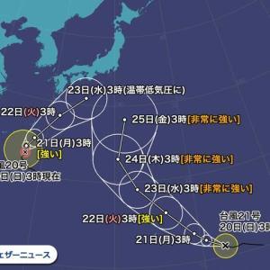 2019年10月20日台風20・21号テロ