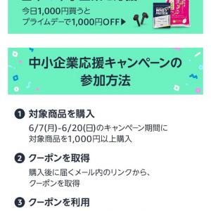 Amazon1000円買って1000円クーポン