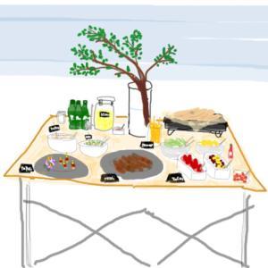 ふたりのアウトドア②BBQ 料理と飾り付け計画案