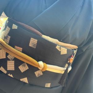 アラカン佳子の着物コーデ…紅葉ランチ会コーデ❣️