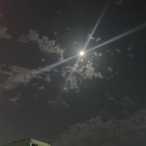 今日の月の力は!? 綺麗な月です❣️