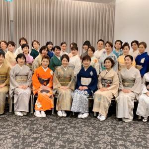 昨日の『着物deおめかし新年会』アラカン佳子の着物コーデ(^^)