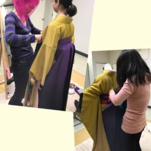 お母様が着せる卒業式の袴!特別レッスン募集中❣️