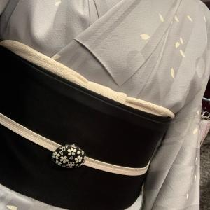 桜尽くしコーデでランチ会に^ - ^アラカン佳子の着物コーデ❣️
