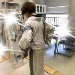 「着物!楽に着れて嬉しい❣️」経験者さんのカスタマイズレッスン始まりました〜^_^