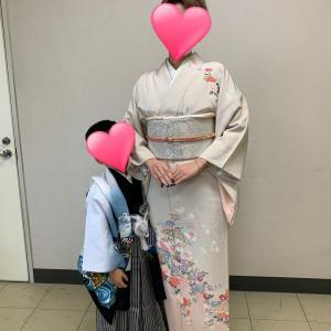 七五三の着付・ママと息子ちゃんの着付させていただきました❣️