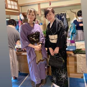 着物でお出かけ〜鍛冶屋町ブルー〜tunagu〜大阪高島屋