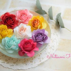 【ペーパーフラワー】薔薇