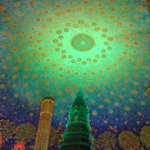 【バンコク観光】ワット・パークナム ===1度は行ってみたかった天井画が美しい寺院へ===