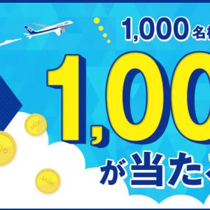 【ANAマイル】TポイントをANAマイル交換で抽選で1,000マイルプレゼント!