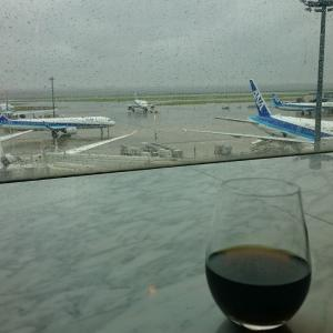 那覇空港2時間30分滞在のOKAタッチ① 羽田空港:雨でも飛行機を眺めなら、まったりできるスィートラウンジ!