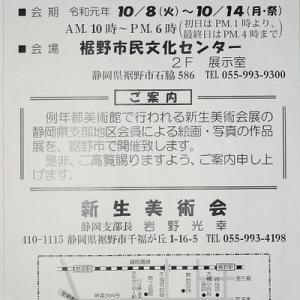 新生美術会 静岡支部展&三島宿