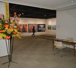 開催3日目、新生美術会支部展。
