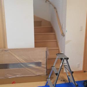 リビングイン階段の工事、はじまる。