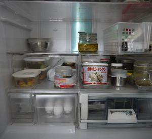 給料日前の冷蔵庫と買い足し食材。