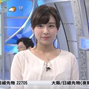 角谷暁子アナの谷間が見えてる!!横乳もすごい!