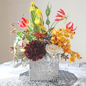 受付を飾る花