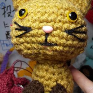 猫、編みました