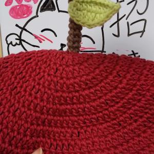 簡単かわいいりんごのベレー帽