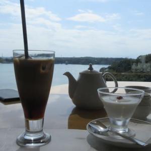 アイスコーヒーと杏仁豆腐