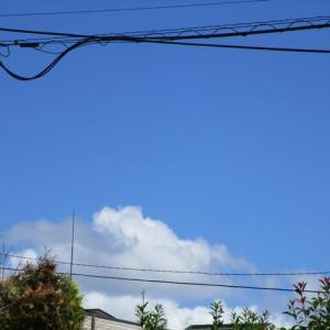 3枚の雲の写真