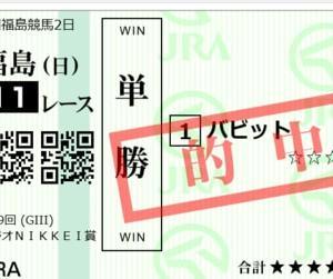 2020 ラジオNIKKEI賞 単勝2020円的中