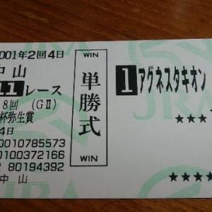 2001年平成の名馬の単勝馬券