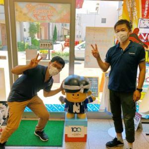 去年の研修生の大川君が遊びに来てくれた!