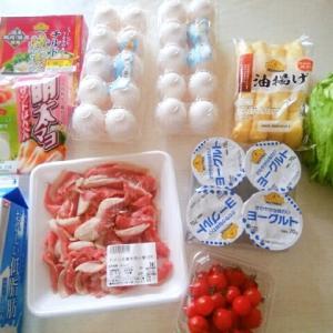 今日の買い物。牛肉は100g100円以下でしか買わない