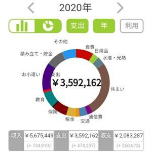 2020年の総支出と貯金額!