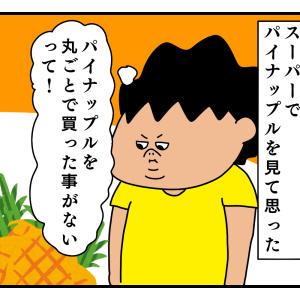 初めてパイナップル買った