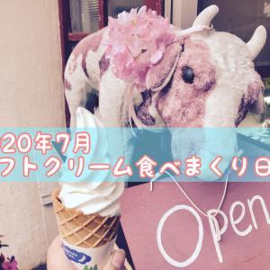 1か月で21個!7月に食べたソフトクリームを紹介します。