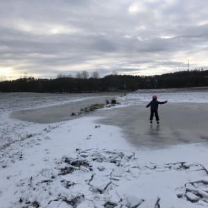 水たまりスケート