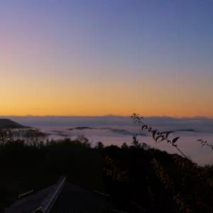 昨日朝の【雲海】景色