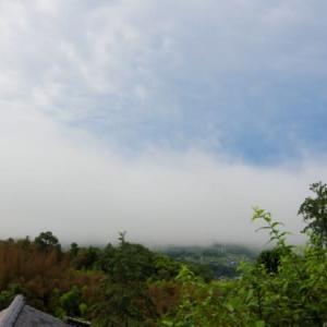 我が家から見る霧の動きなど