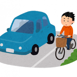 自転車乗り俺、マナーのなってない車に煽られ泣く泣く車道の真ん中を走る