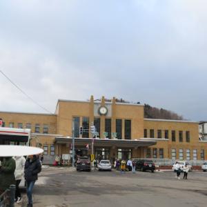 北海道 小樽駅と周辺の建物
