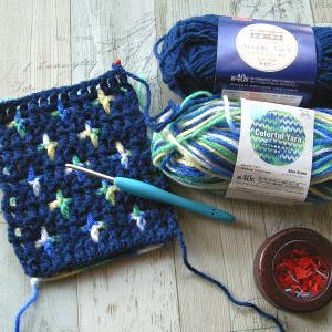 リバーシブル編みの練習