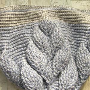 バッグの本体部分編み終わり