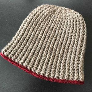 編み物。ニット帽